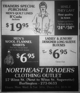 Northeast Traders Clothing Outlet, Burlington MA
