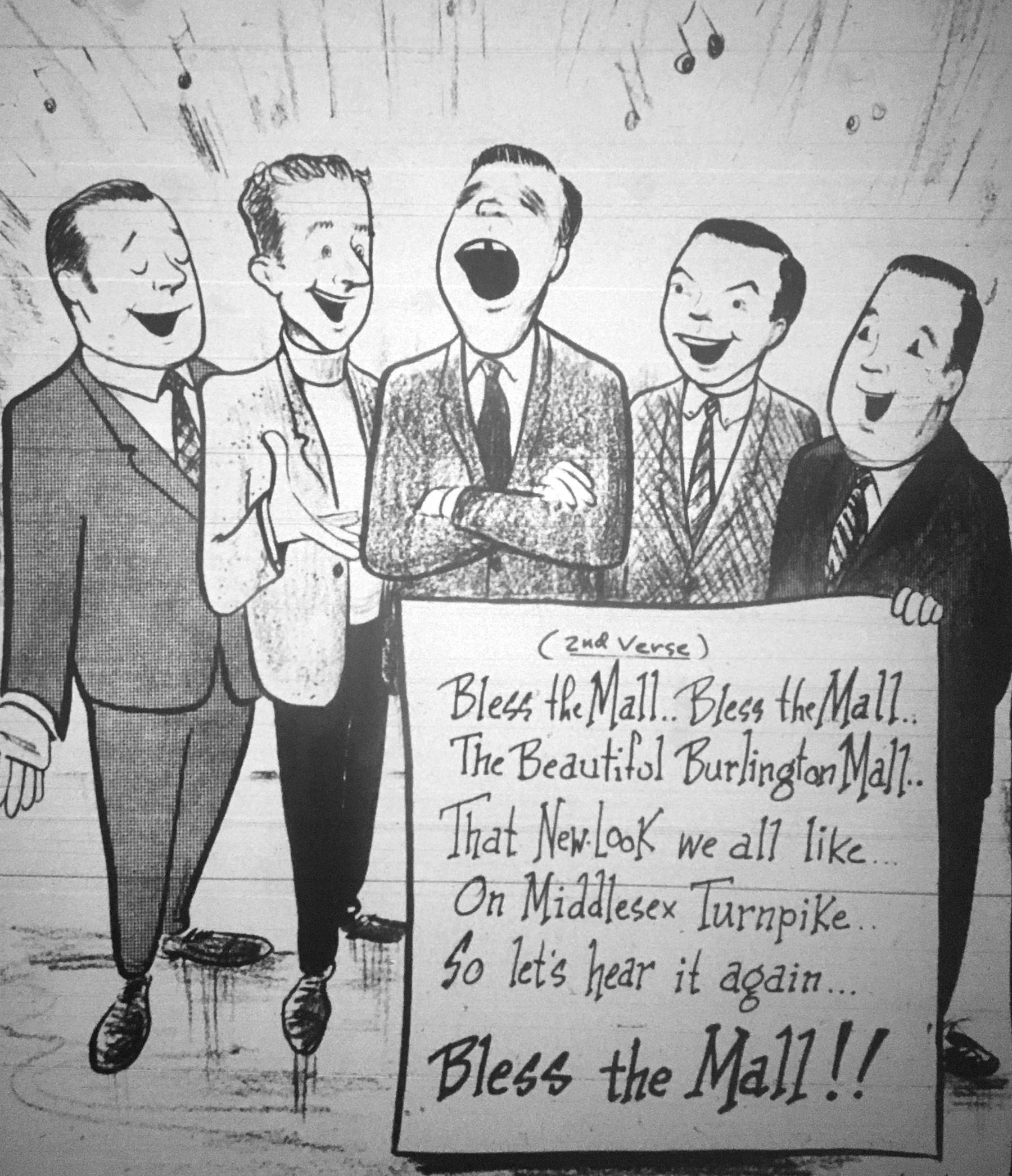 Burlington Mall cartoon
