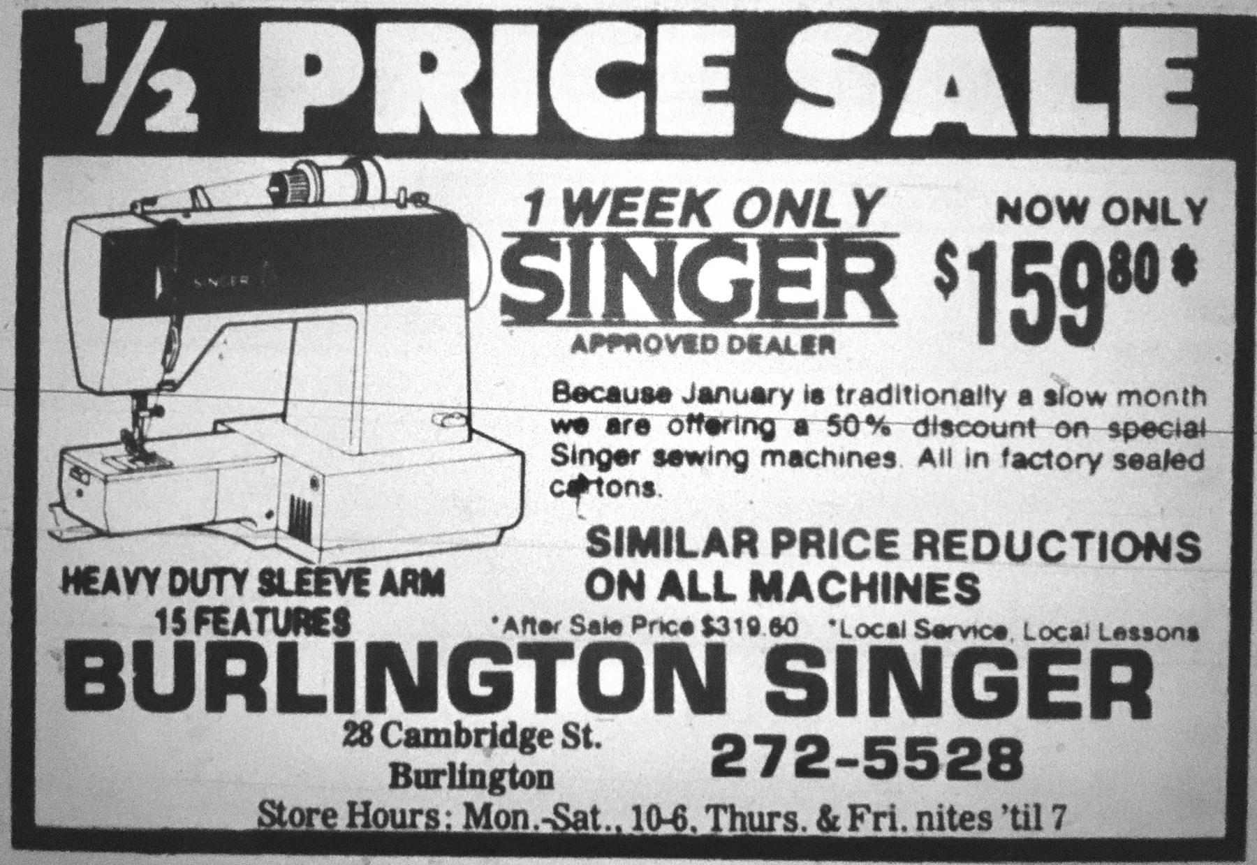 Burlington Singer, Burlington MA