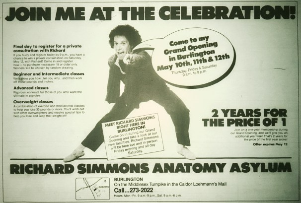 Richard Simmons Anatomy Asylum, Burlington MA