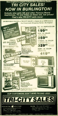 Tri-City Sales, Burlington MA