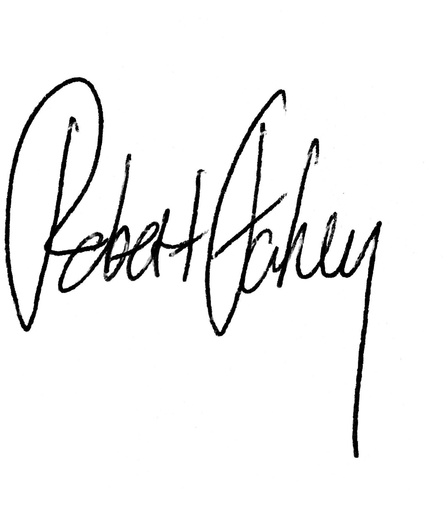 Robert Fahey signature