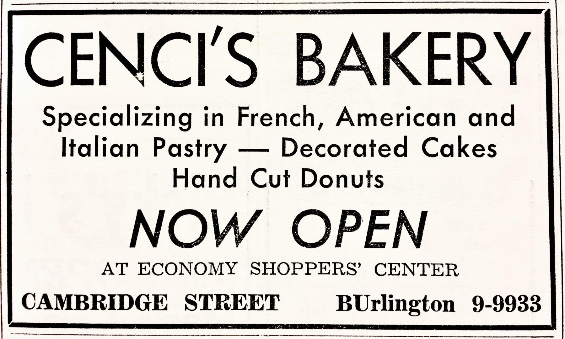 Cenci's Bakery grand opening Burlington MA
