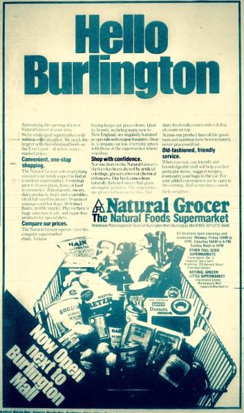 Natural Grocer, Burlington MA