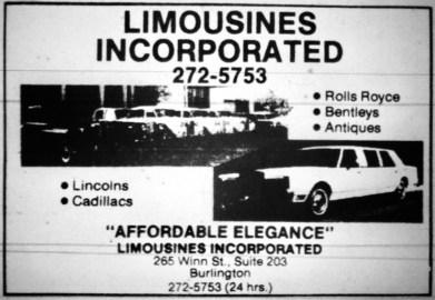 Limousines Incorporated, Burlington MA