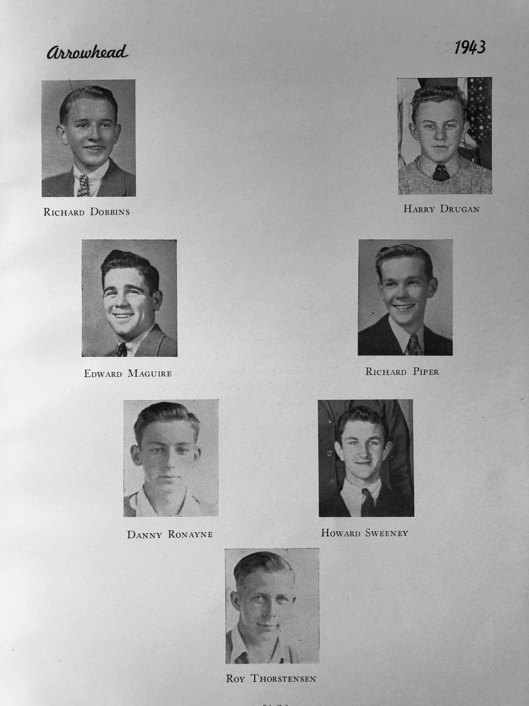 1943 tribute to BHS students in WWII combat