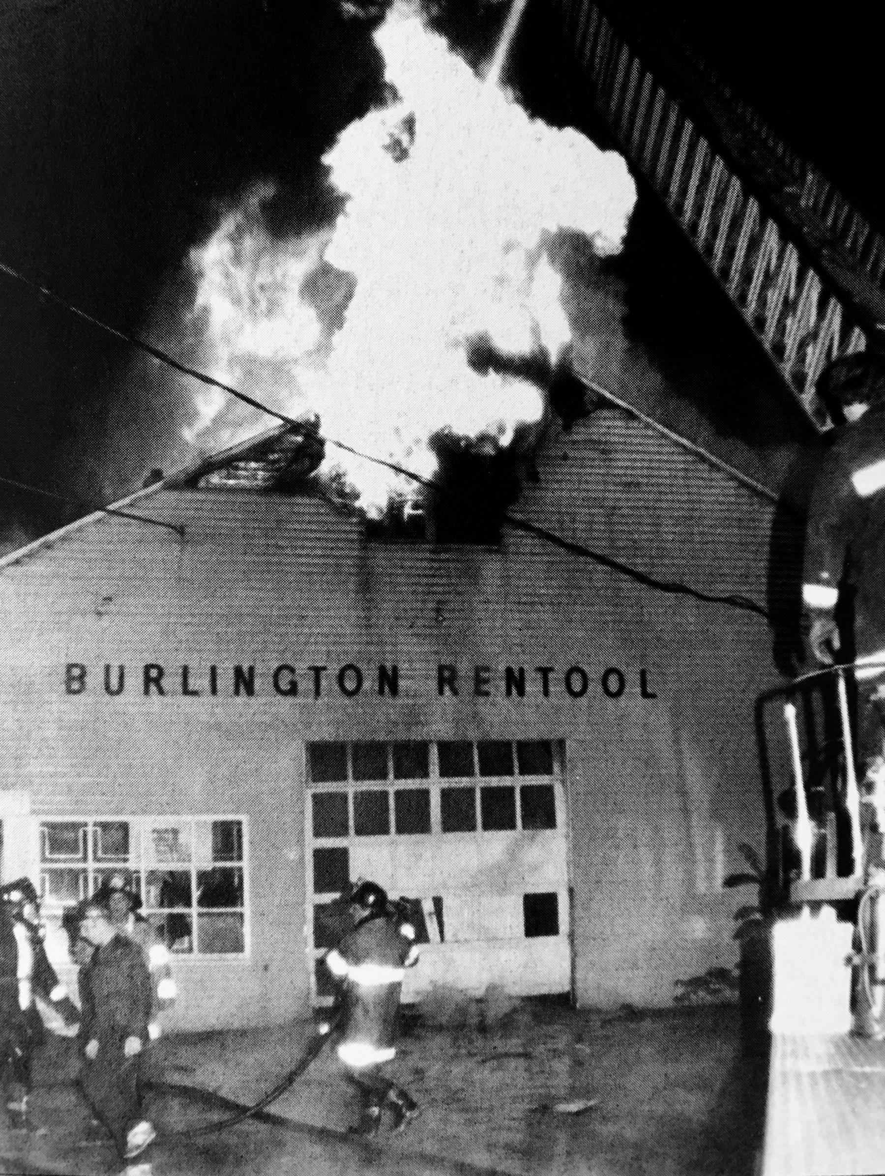 Burlington Rentool fire, 1970