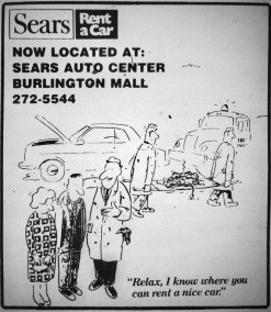 Sears Rent-A-Car, Burlington MA
