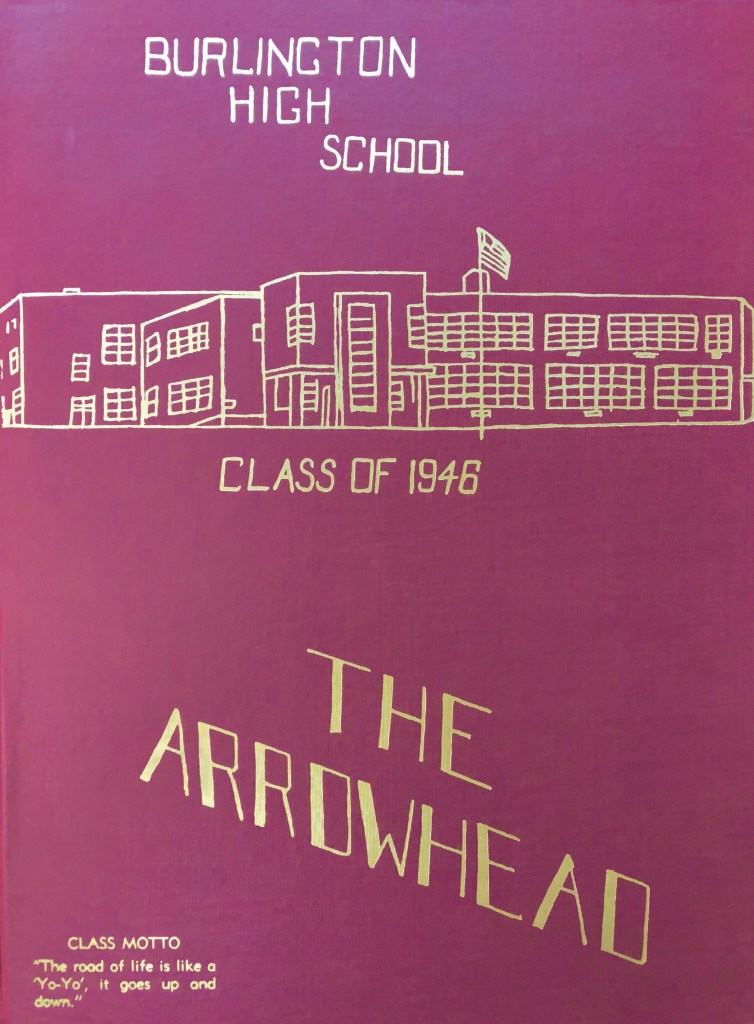 1946 Burlington High School yearbook cover