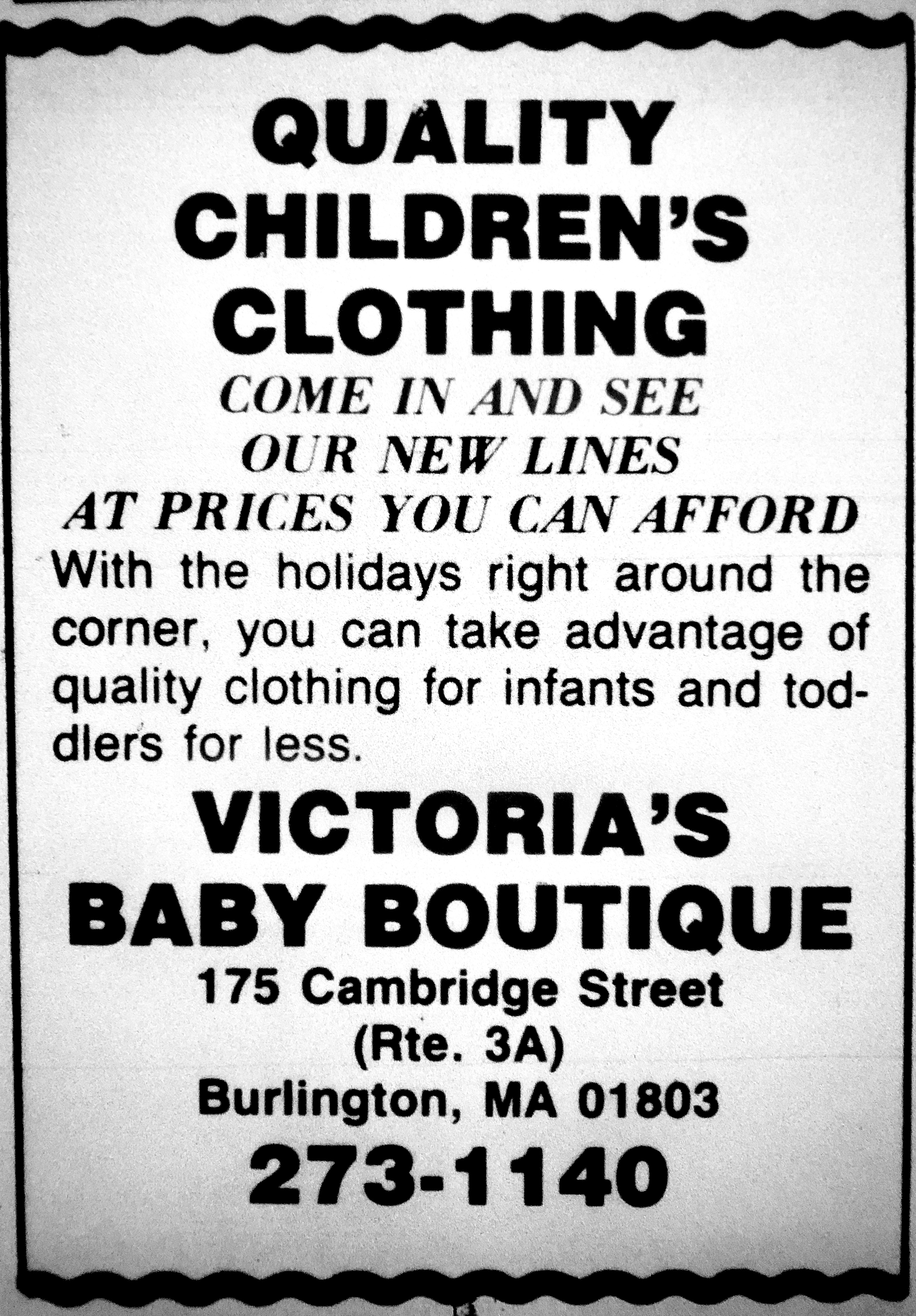 Victoria's Baby Boutique, Burlington MA