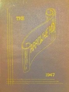 1947 Burlington High School yearbook cover