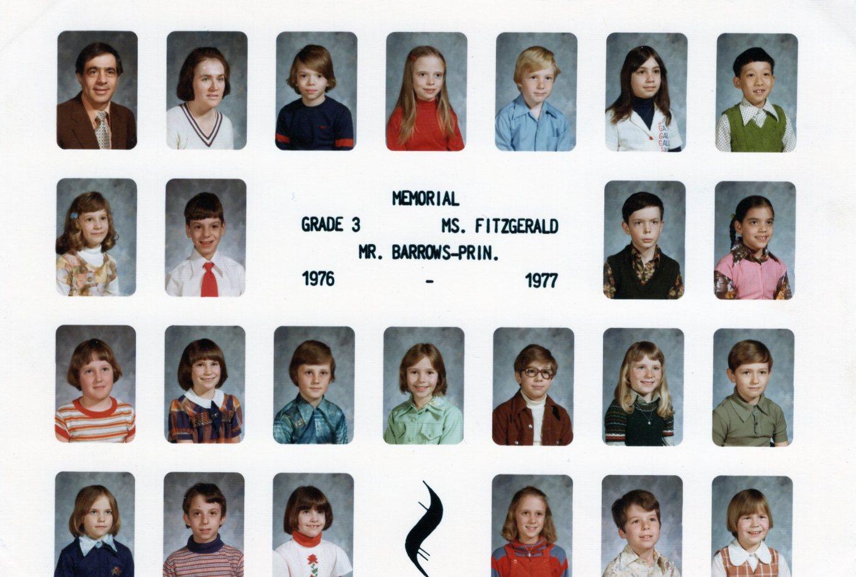 1976 Memorial School Burlington MA Ms. Fitzgerald