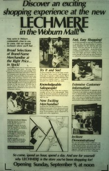 Lechmere Grand opening Woburn, 1984