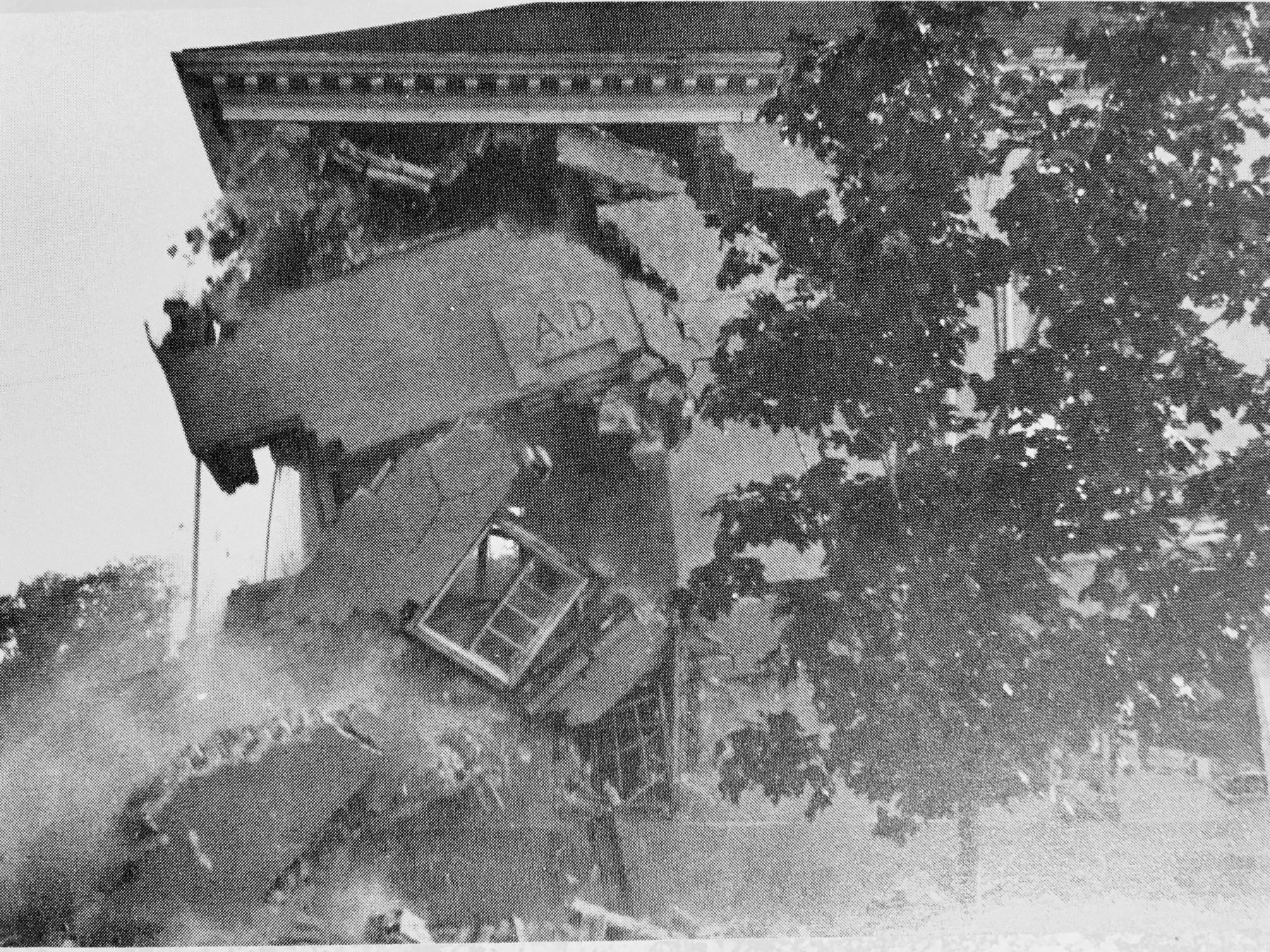 Town Hall demolition, 1969. Burlington MA
