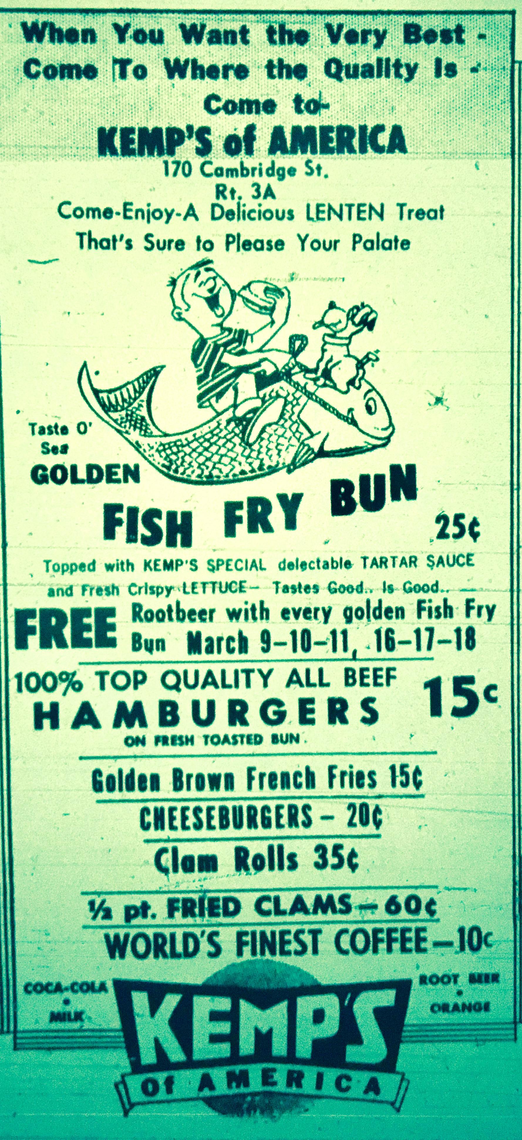 Kemp's fish ad