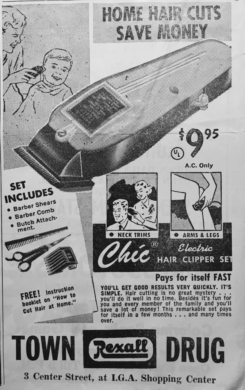 Rexall hair clipper ad.