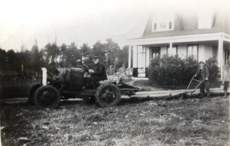 Olson house and tractor, 112 Wilmington Road, Burlington, MA