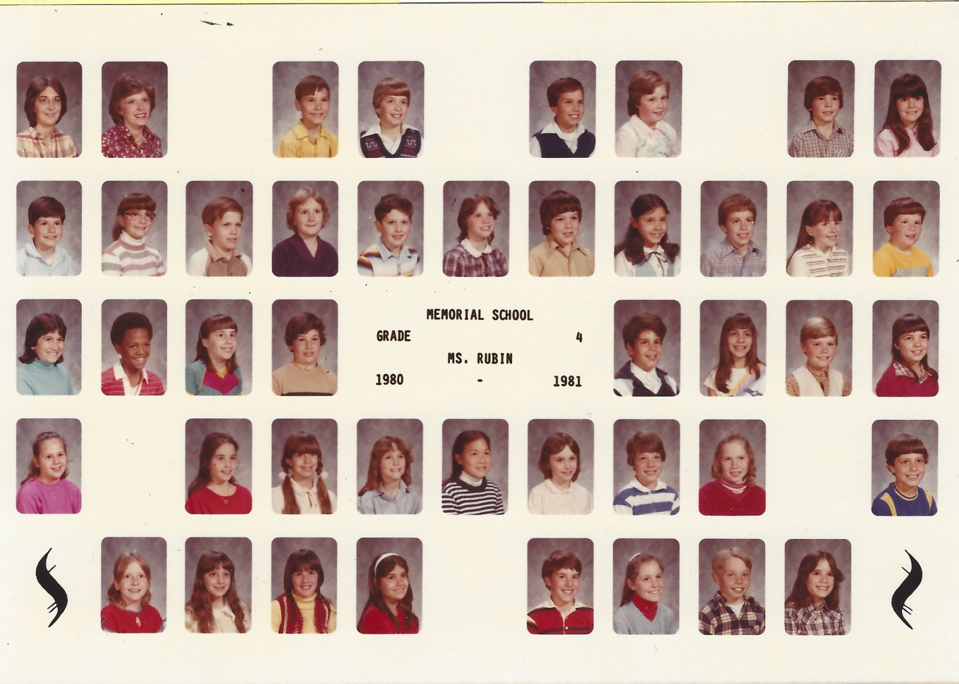 Ms Rubin Memorial School 1980, Burlington MA