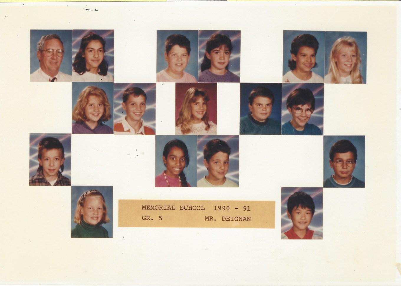 1990 Mr. Deignan, Memorial School Burlington MA