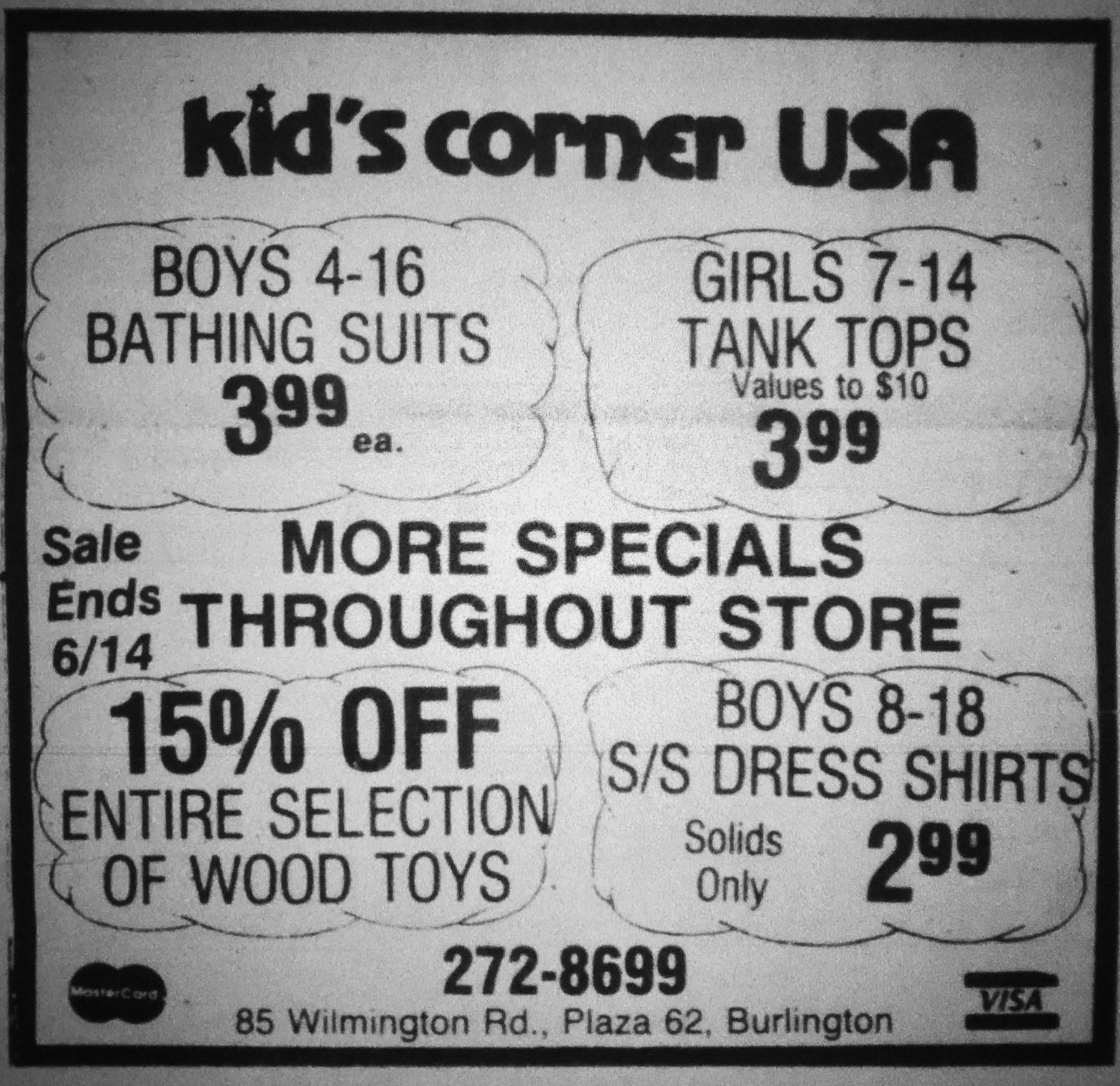Kid's Corner USA, Burlington, MA