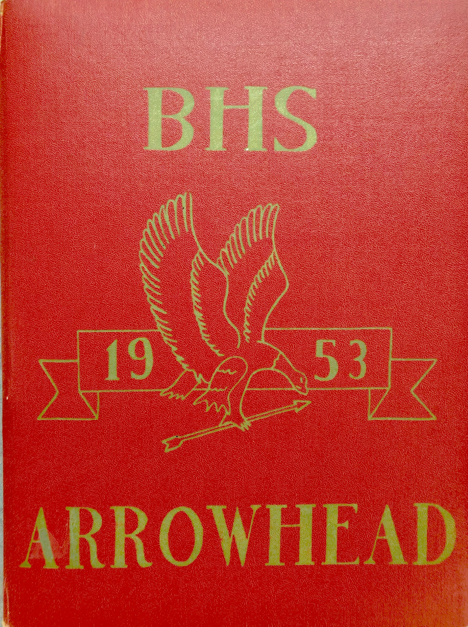 Burlington High School yearbook cover 1953