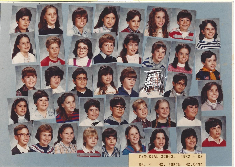 1982 Ms Rubin, Memorial School Burlington MA