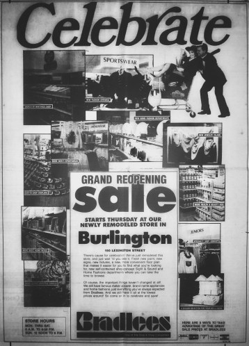 Bradlees grand re-opening, Burlington MA