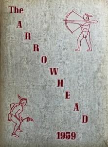 Burlington High School yearbook cover 1959