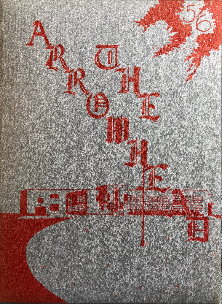 Burlington High School yearbook cover 1956