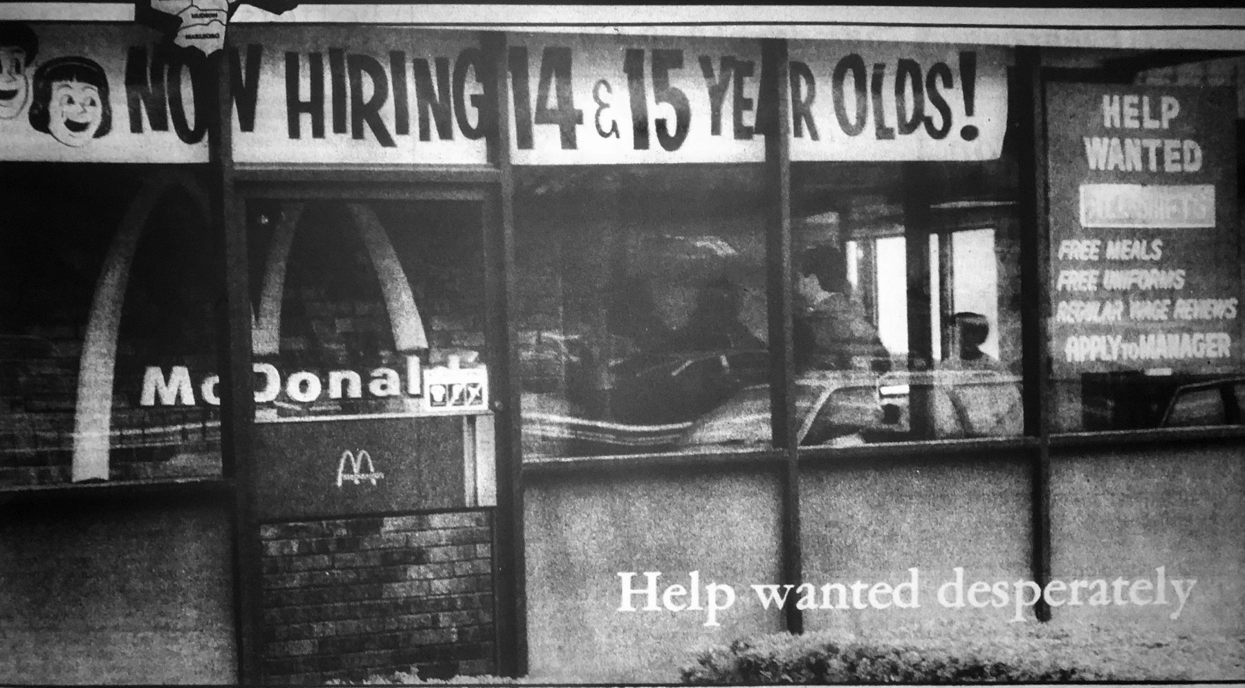 McDonald's window ad, Burlington MA
