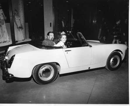 Miss Burlington with Austin Healey Sprite