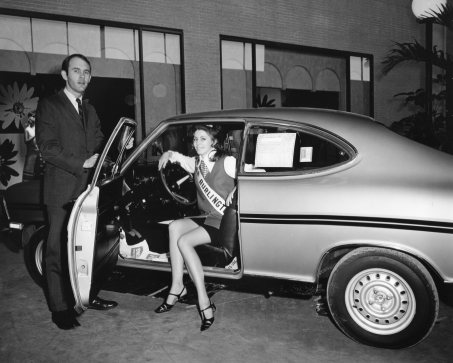 Miss Burlington with 1969 Opel Kadett B Rallye