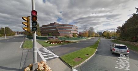 District Ave entrance when it was New England Executive Park, Burlington MA