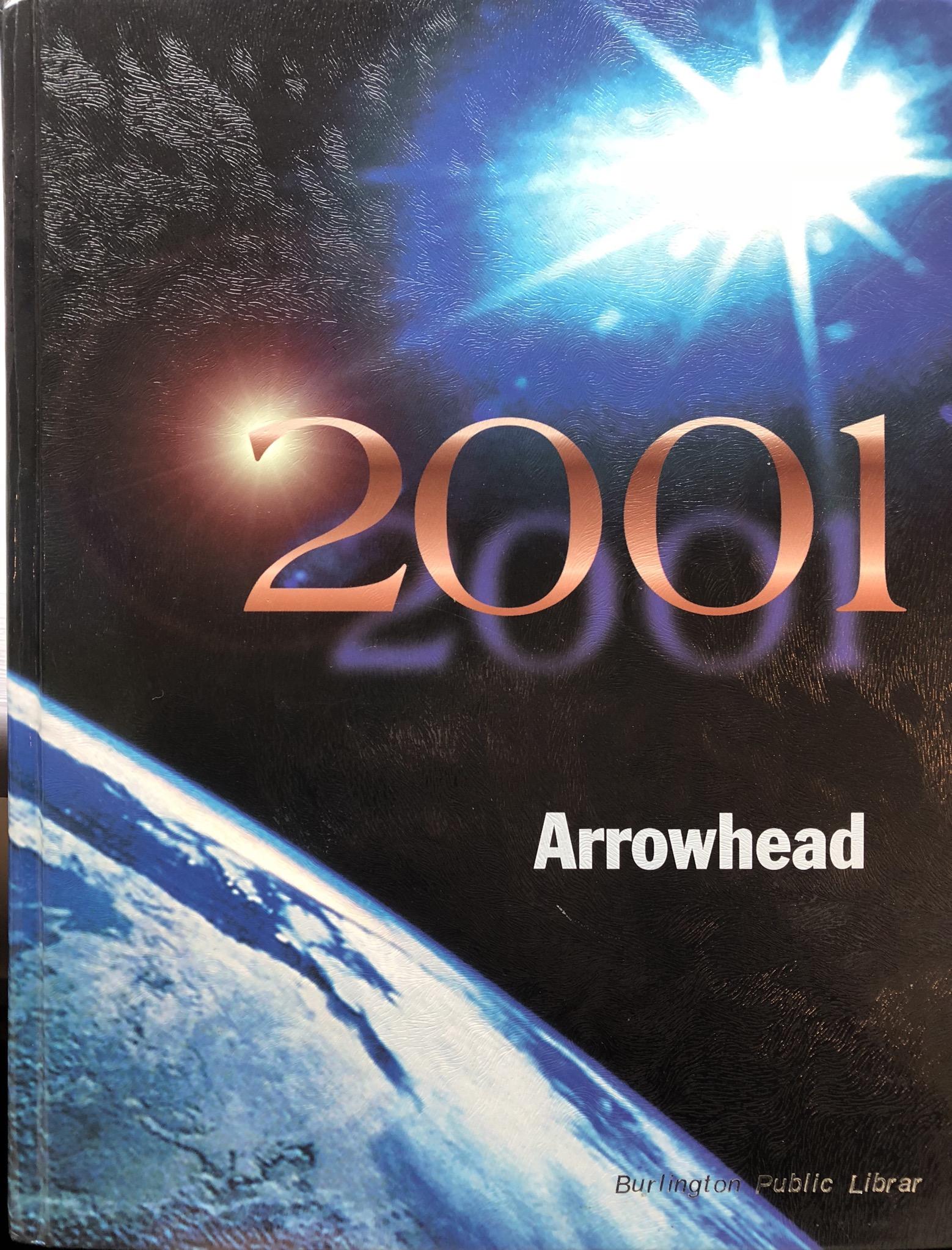 2001 Burlington High School yearbook Burlington MA