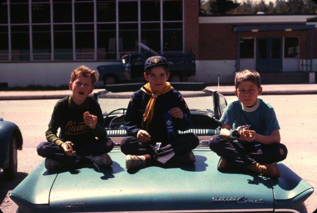 Wildwood School parking lot, 1970