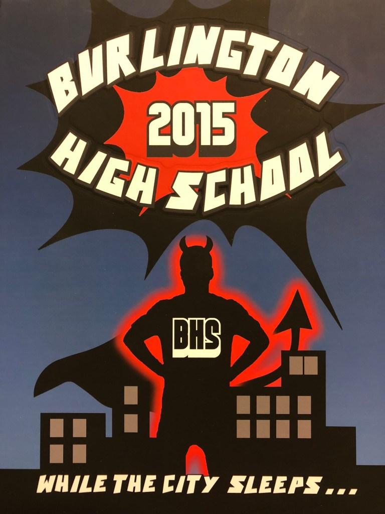 Burlington MA High School yearbook 2015