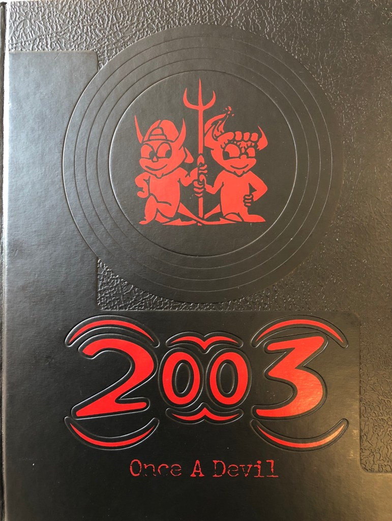 Class of 2003 Burlington MA High School yearbook cover
