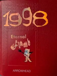 Burlington High School yearbook cover 1998, Burlington MA