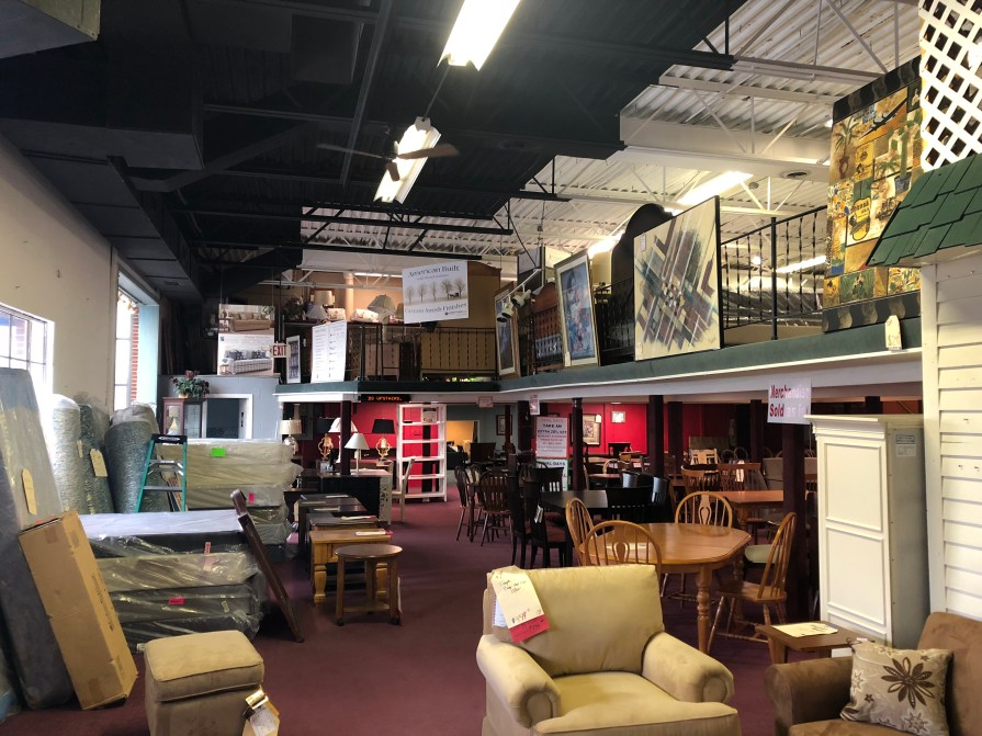 Donahue's Furniture mezzanine, Burlington MA