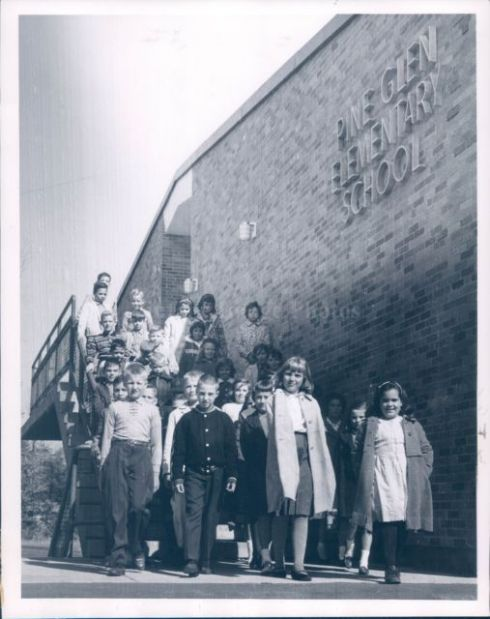 1963 Pine Glen students Burlington MA