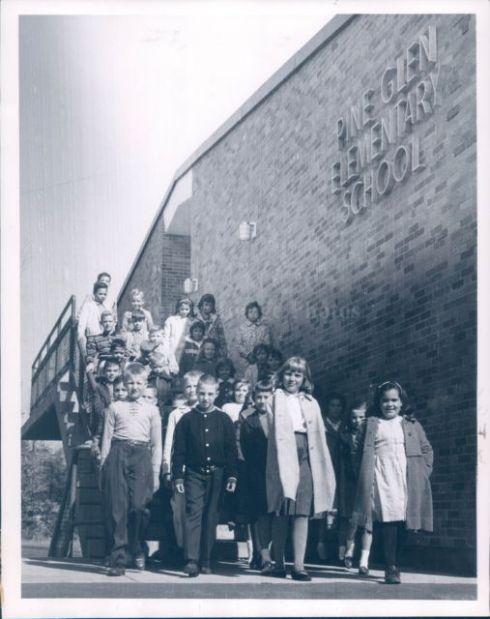 1963 Pine Glen students Burlington MA