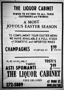 Liquor Cabinet ad Burlington MA