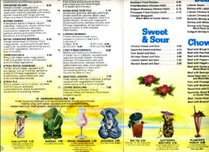 Royal Hawaiian menu