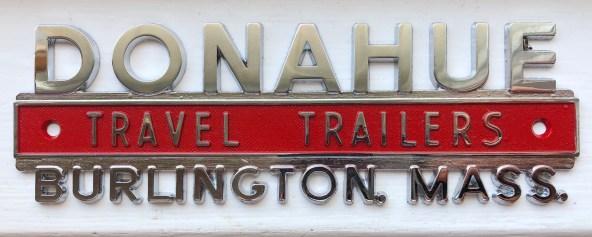 Donahue Trailers vehicle emblem, Burlington, MA