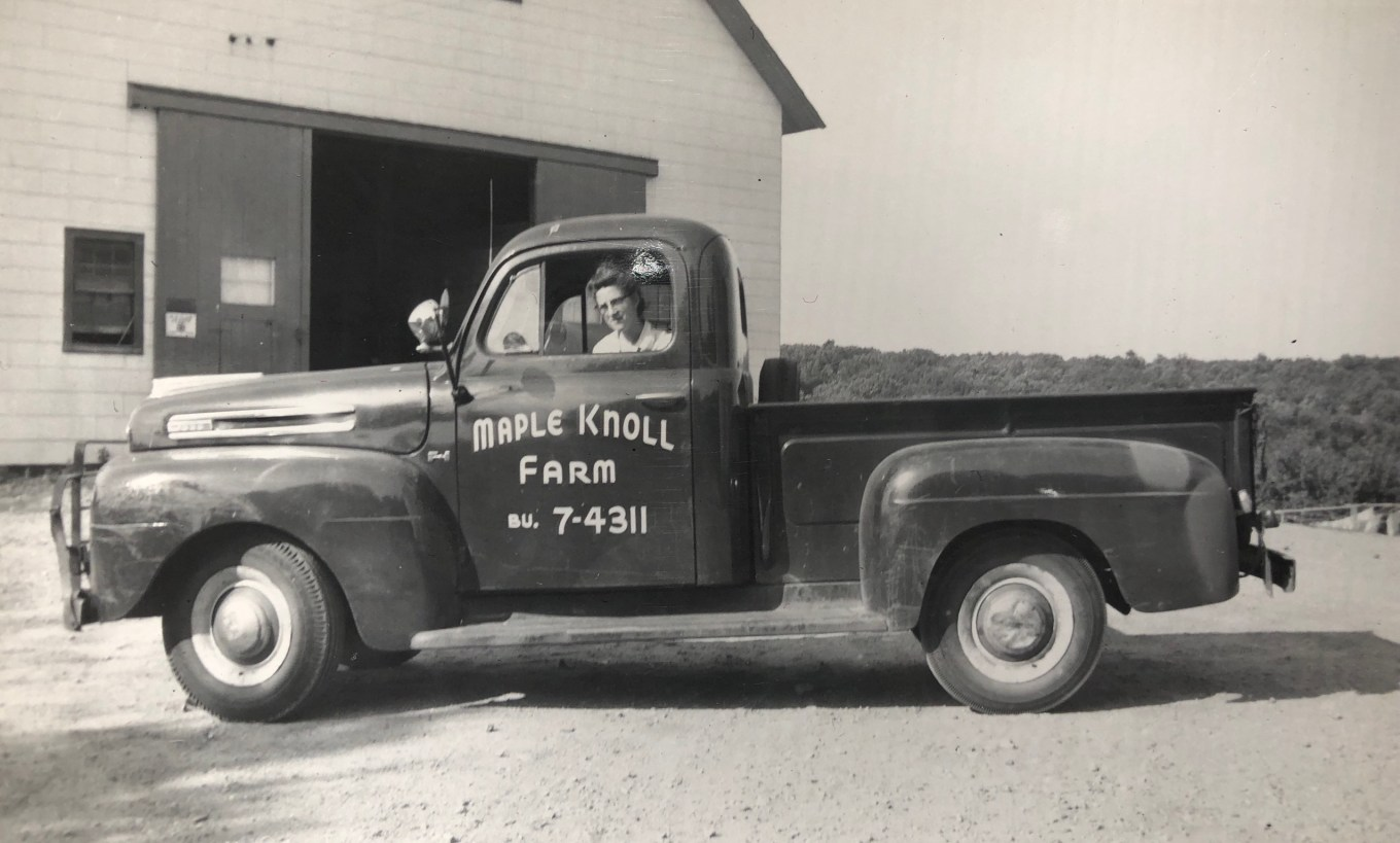 Maple Knoll Farm truck, Burlington MA