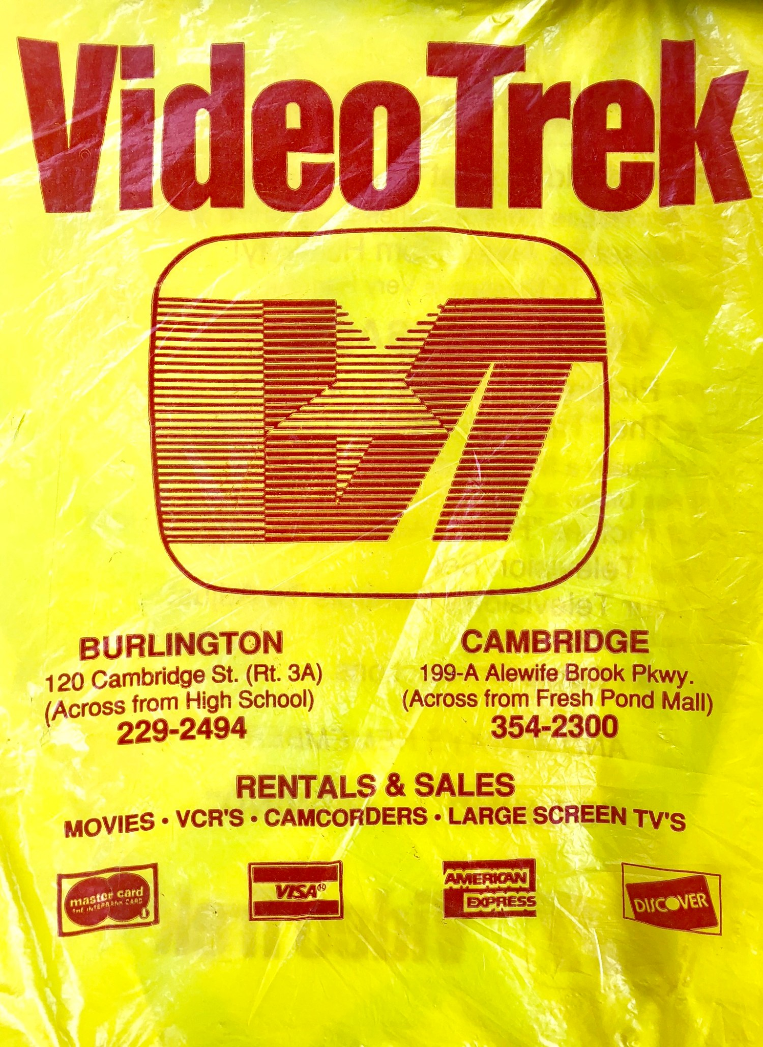 Video Trek bag, Burlington MA. Photo credit: Cheryl Hayes