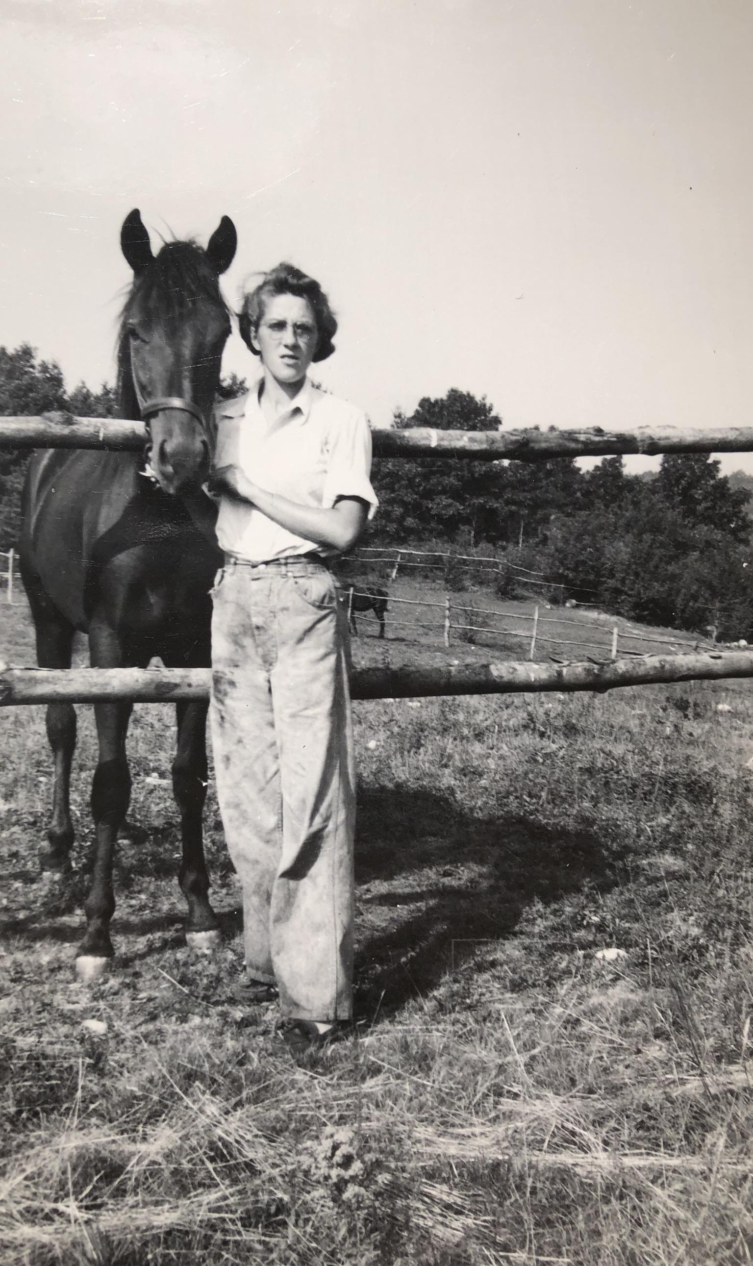 Marie Seminatore on the farm