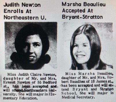 Judith Newton Marsha Beaulieu Burlington MA