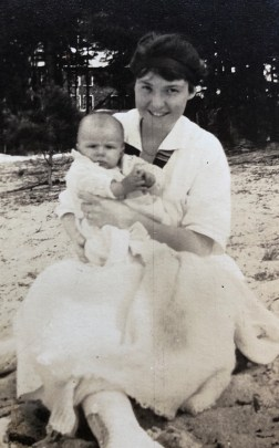 Mildred with child, likely Jimmy (judging by widow's peak)