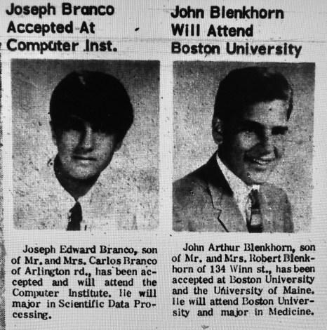 Joseph Branco John Blenkhorn Burlington MA